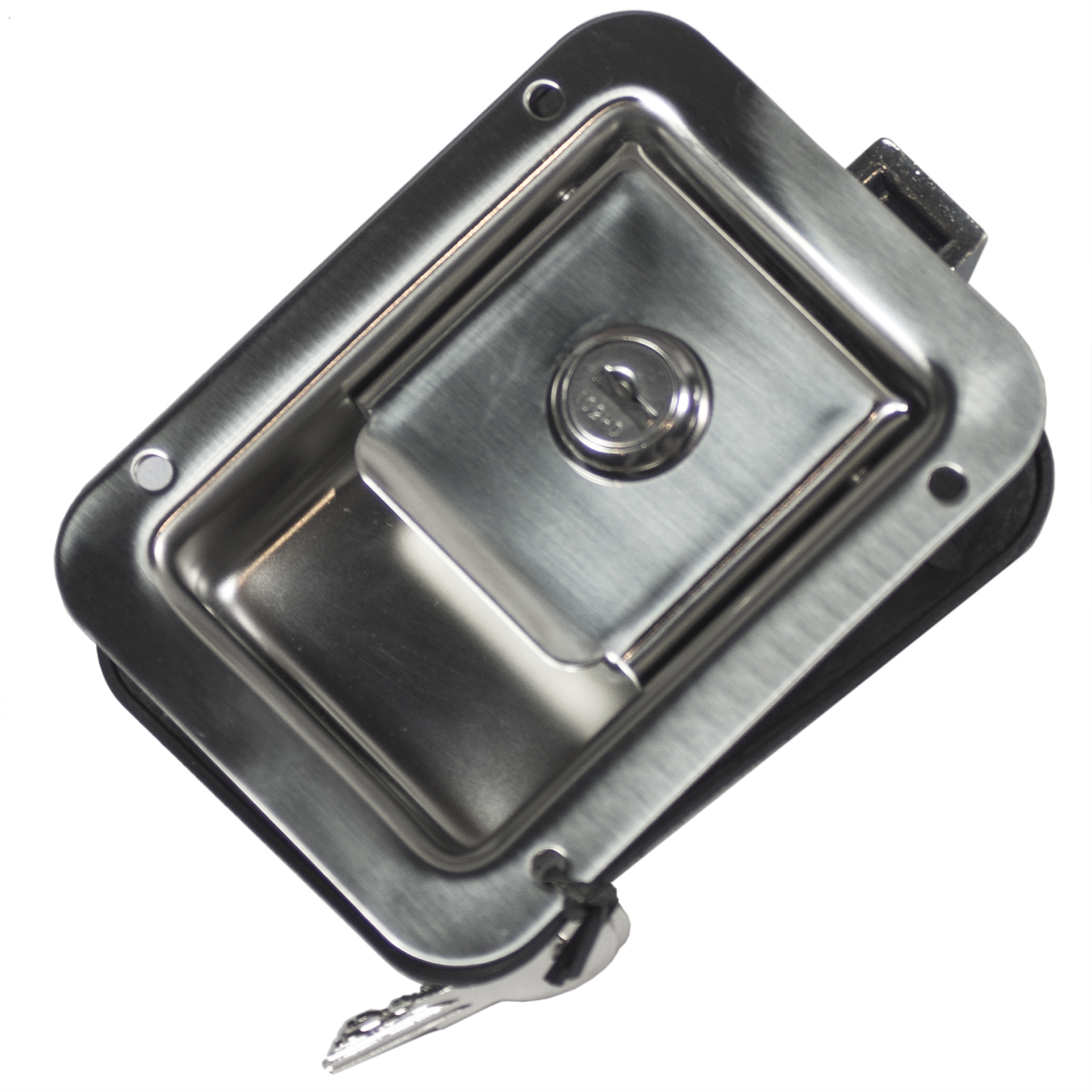 Large Polished Stainless Steel Paddle Locking Latch